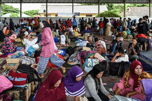 印尼当局因海啸威胁发布居民疏散命令 hinh anh 1