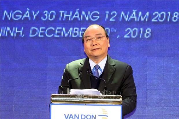政府总理阮春福出席广宁省三个重大工程项目的竣工投运仪式 hinh anh 3