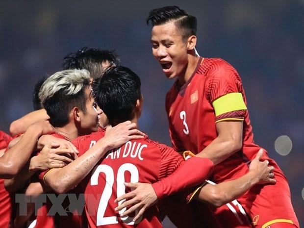 2019年亚洲杯热身赛:越南队以4比2击败菲律宾队 hinh anh 1