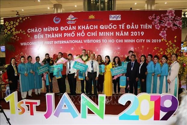 越航迎来2019年第一批外国游客 hinh anh 1