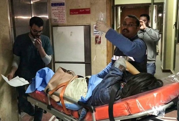 越南游客在埃及金字塔附近遇袭事件:9名游客启程回国 hinh anh 1