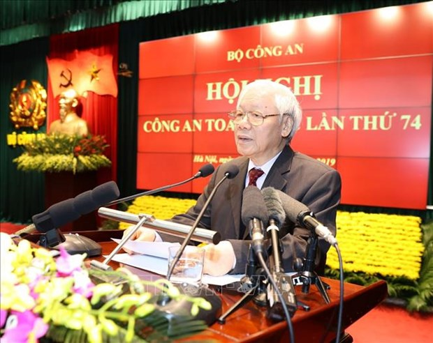 越共中央总书记、国家主席阮富仲出席第74次全国公安会议 hinh anh 2