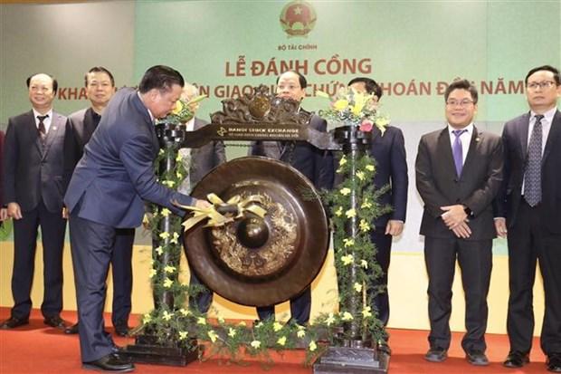 越南证券交易所举行2019年开市敲锣仪式 hinh anh 1