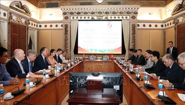 胡志明市与英国加强城市发展合作 hinh anh 1