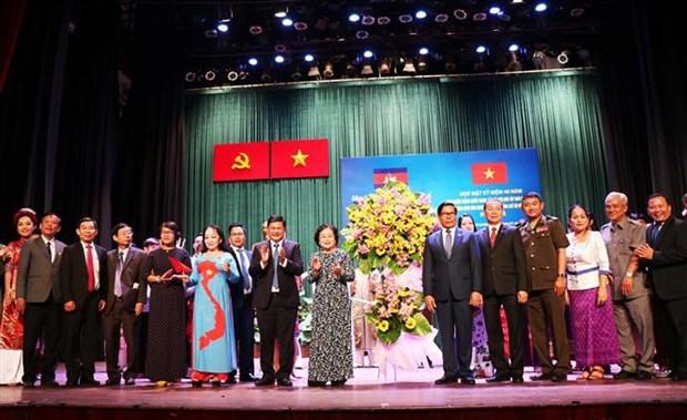 胡志明市举行见面会庆祝西南边境战争胜利40周年纪念日 hinh anh 1