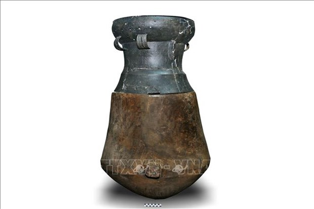 木桶铜鼓葬墓首次在越南平阳省发现 hinh anh 1