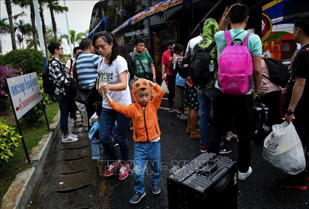 """热带风暴""""帕布""""登陆泰国南部 居民被迫撤离避难 hinh anh 2"""