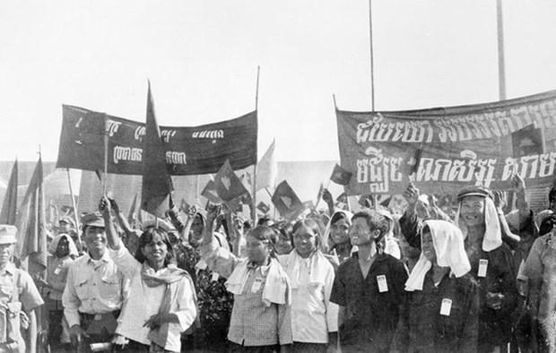 越共中央致电祝贺柬埔寨推翻种族灭绝制度40周年 hinh anh 1
