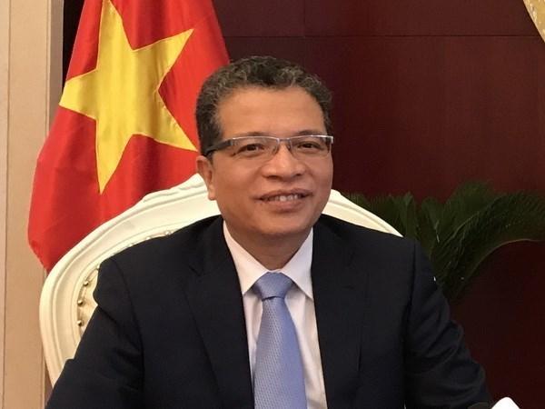 越南驻华大使邓明魁年初会见中国记者 hinh anh 1