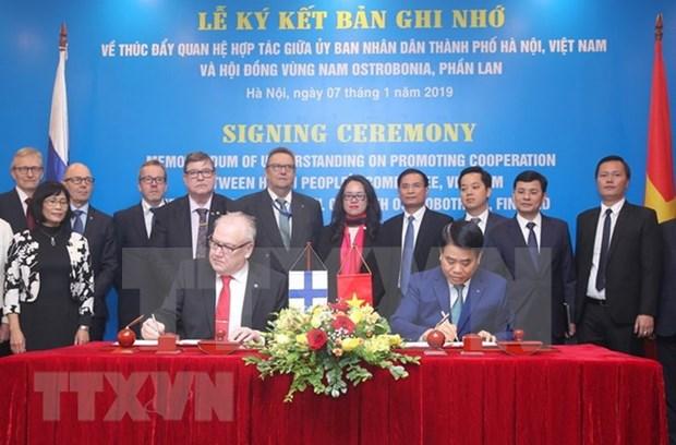 越南首都河内与芬兰各地方促进合作关系 hinh anh 2