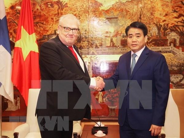 越南首都河内与芬兰各地方促进合作关系 hinh anh 1