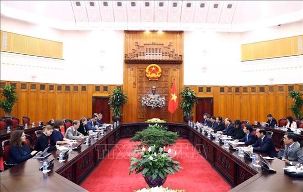 政府总理阮春福会见欧洲议会副议长海蒂 hinh anh 2