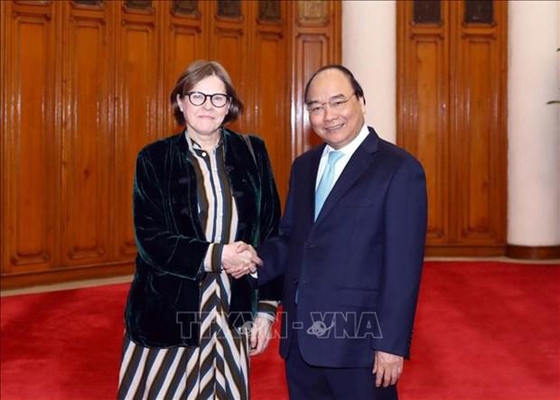 政府总理阮春福会见欧洲议会副议长海蒂 hinh anh 1