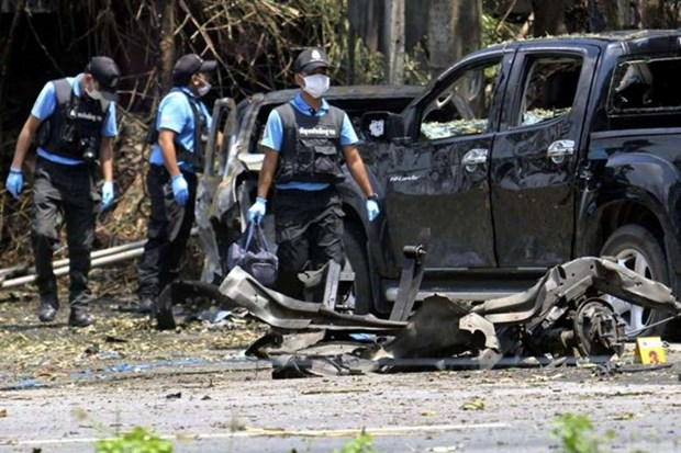 泰国南部发生爆炸案 两警员受伤 hinh anh 1