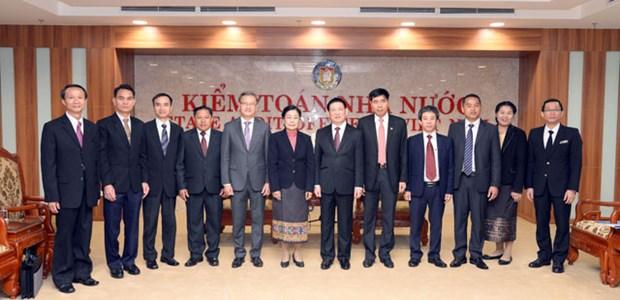 越老两国加强审计领域的合作 hinh anh 1