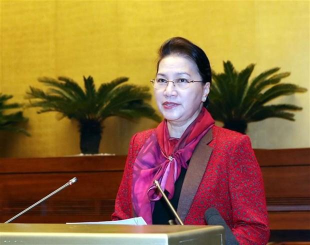 越南国会办公厅召开2019年任务部署会议 阮氏金银出席 hinh anh 1