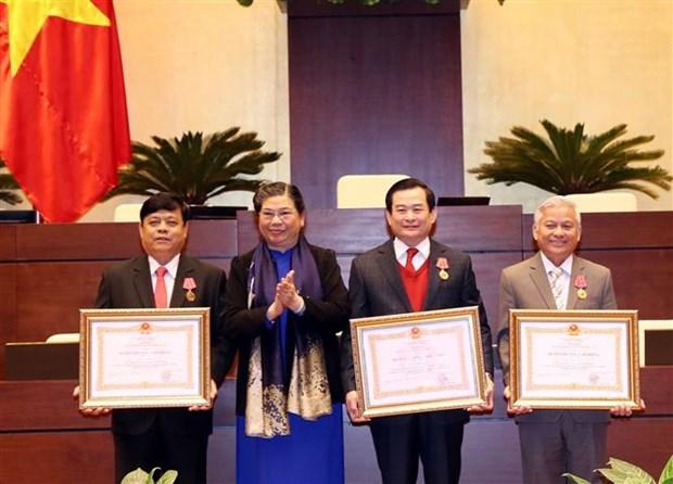 越南国会办公厅召开2019年任务部署会议 阮氏金银出席 hinh anh 2