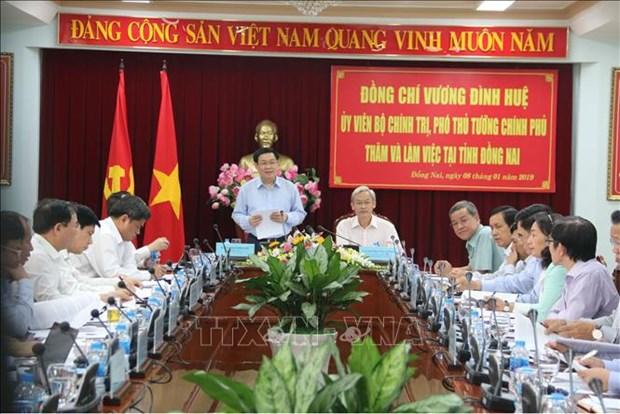 政府副总理王廷惠:同奈省应促进城镇化与工业化协调发展 hinh anh 1