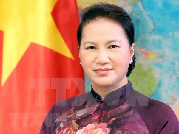 国会主席阮氏金银:加强团结 共促发展 hinh anh 1