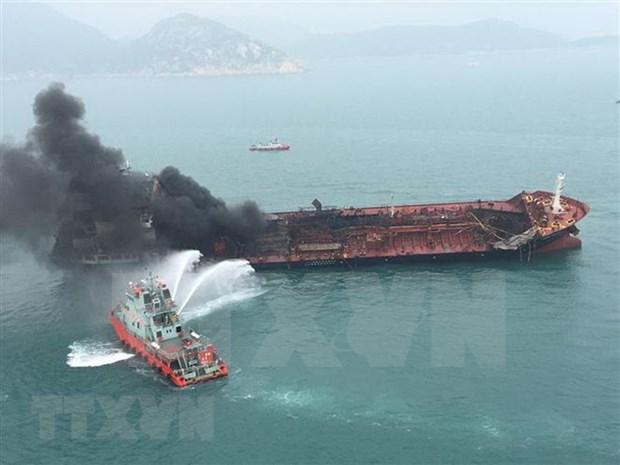 """""""Aulac Fortune""""号运油船爆炸起火事故:一名失踪船员尸体已找到 hinh anh 1"""