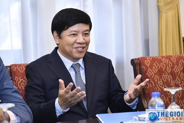 越南外交部副部长阮国强会见非洲各国驻越大使 hinh anh 2