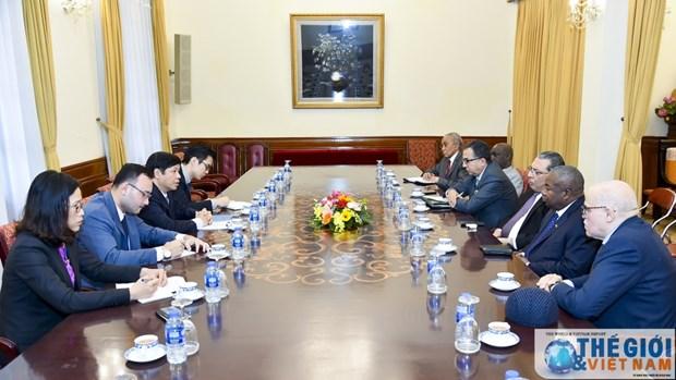 越南外交部副部长阮国强会见非洲各国驻越大使 hinh anh 1