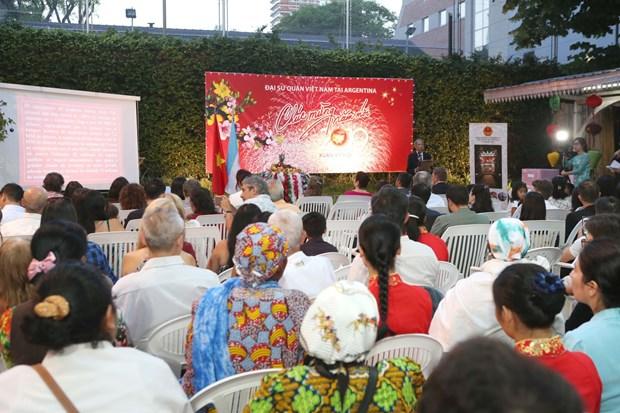 越南驻阿根廷大使馆举行2019年迎春活动 hinh anh 2