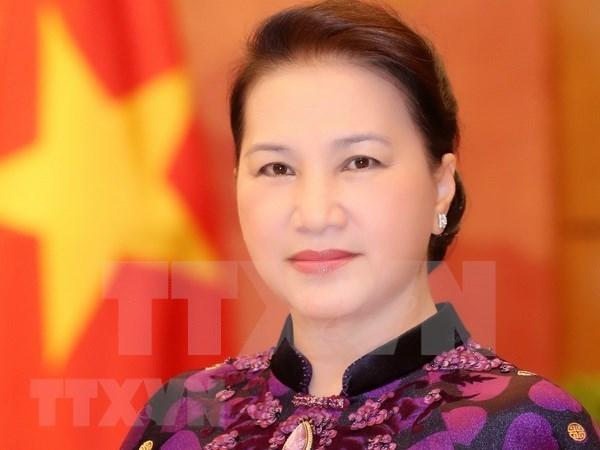 国会主席阮氏金银启程前往柬埔寨出席APPF-27 hinh anh 1