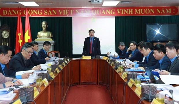 越共中央民运部部长出席越南劳动总联合会主席团第二次会议 hinh anh 1