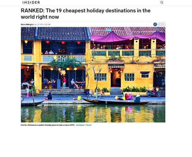 越南会安跻身2019年地球上旅费最便宜的19个度假胜地排行榜 hinh anh 1