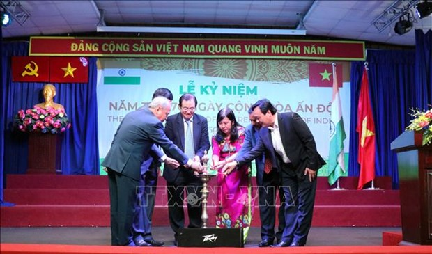 印度共和国日70周年纪念典礼在胡志明市举行 hinh anh 1