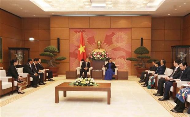 国会副主席丛氏放会见老挝巴特寮通讯社代表团 hinh anh 2
