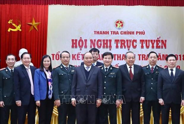 阮春福总理出席政府监察总署工作总结会议 hinh anh 1