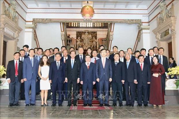胡志明市人民委员会主席阮成峰荣获韩国总统的文化勋章 hinh anh 2