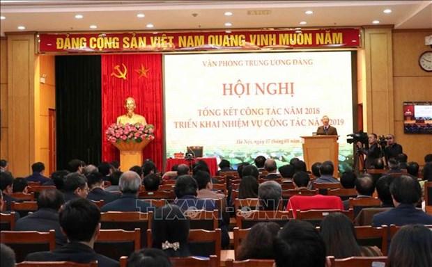 越共中央办公厅部署2019年工作任务 hinh anh 1