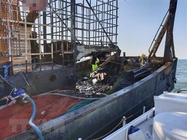 韩国渔船起火事故:关于两名越南籍船员的进一步消息 hinh anh 1