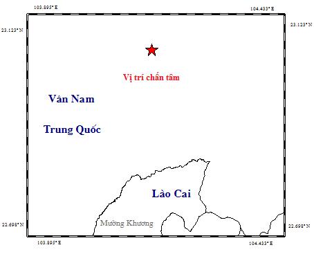 越中边境附近地区发生3级地震 hinh anh 1