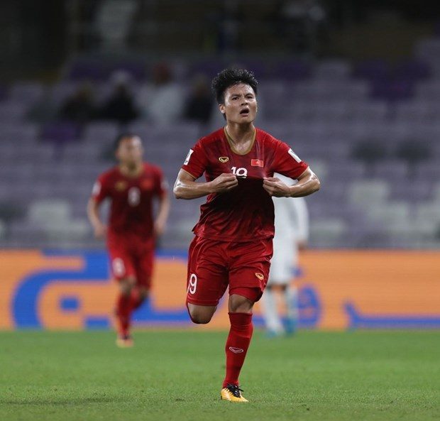 越南球员光海跻身2019年亚洲杯小组赛最后一轮10名最佳球员 hinh anh 1