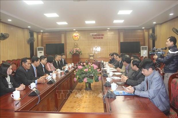 老挝巴特寮通讯社高级工作代表团走访越南清化省 hinh anh 1