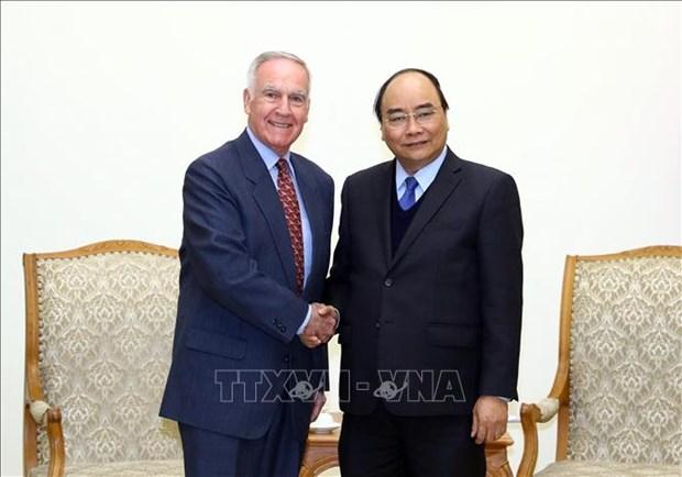 越南政府总理阮春福会见美国前驻越大使 hinh anh 1