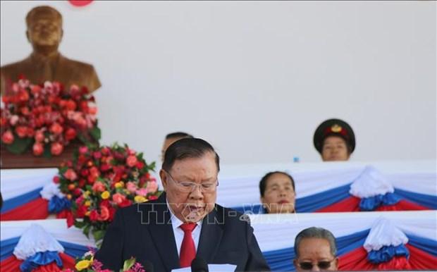老挝隆重举行人民军建军70周年纪念集会 hinh anh 2