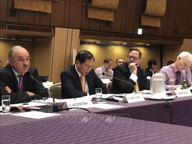 越南积极参加2019年二十国集团峰会第一次协调人会议 hinh anh 1