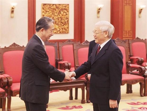 越共中央总书记、国家主席阮富仲接见中国驻越大使 hinh anh 1