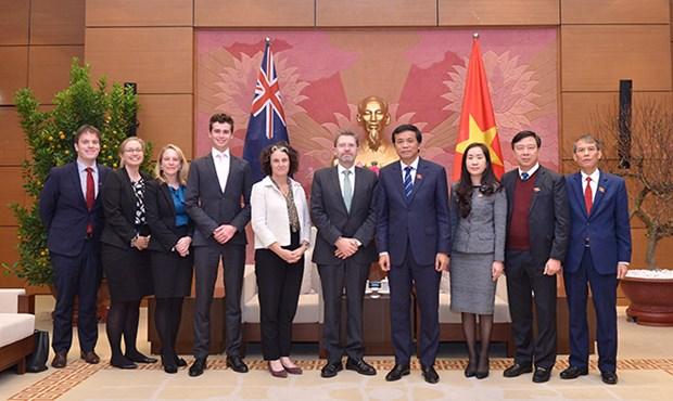 越南国会秘书长阮幸福拜会澳大利亚参议院议长瑞安 hinh anh 2