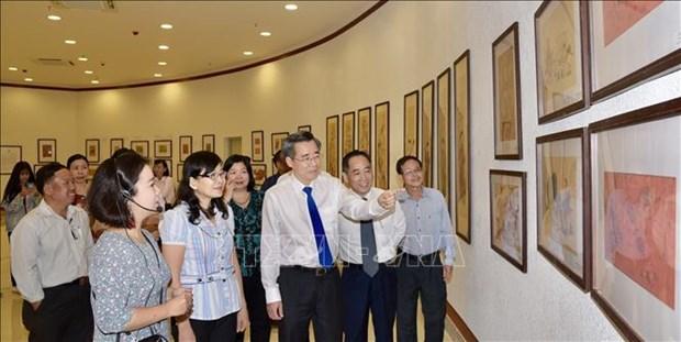 越南传统民间画展展现浓郁民族文化特色 hinh anh 2