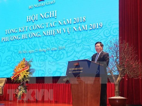 越南外交:主动、创新、高效、胜利落实越共十二届四中全会决议 hinh anh 1