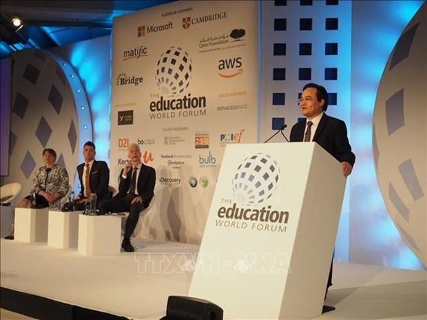 越南参加在英国伦敦举行的世界教育论坛 hinh anh 2