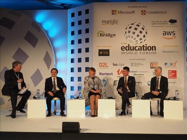 越南参加在英国伦敦举行的世界教育论坛 hinh anh 1