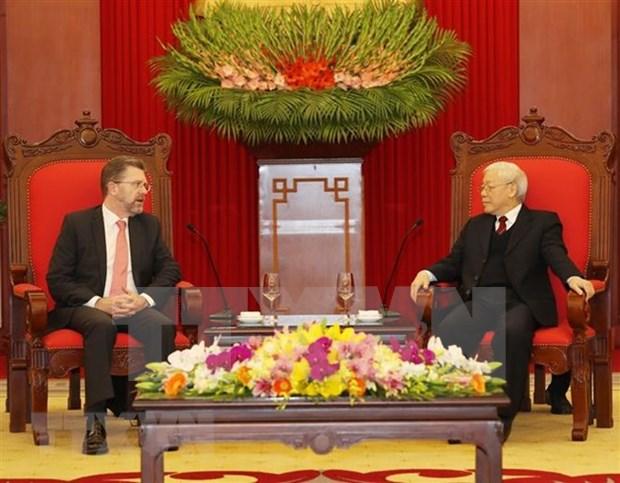 澳大利亚参议院高级代表团圆满结束对越南进行的正式访问 hinh anh 1