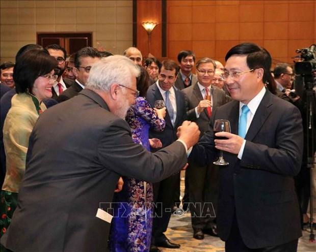 越南的成功离不开各国外交使节、国际组织代表的贡献 hinh anh 1